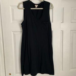 JCREW Factory Black Sleeveless Cotton Dress Size M